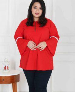trumpet blouse big size (7)